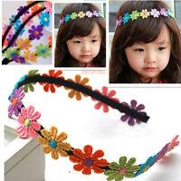 Neu Baby Mädchen Haarband Stirnband Kopfband Haar Blumen Bunt Niedlich Nett B8E3
