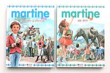 2 livres de lecture : Martine au zoo + Martine monte à cheval