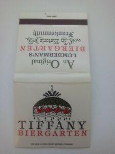 Vintage Matchbook Tiffany Biergarten Frankenmuth, MI.