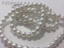 Glaswachsperlen Perlen weiß glänzend 8 mm 100 Stück Schmuck Basteln 5034
