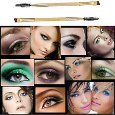 Hot Makeup Bamboo Handle Double Eyebrow Brush + Eyebrow Comb Xmas