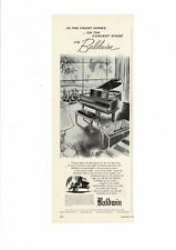 VINTAGE BALDWIN PIANO BABY GRAND CHECKERS LIVING ROOM AD PRINT