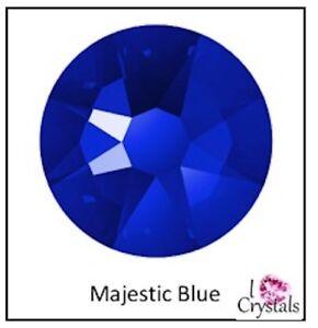 MAJESTIC BLUE 16ss 4mm 144 pieces Swarovski Flatback Crystal Rhinestones 2088