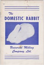 Domestic Rabbit Universal Milling Raising Breeding Harvesting Brochure Rare