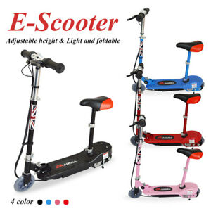 Electric Scooter Kids Battery Ride On E-Scooter Bike Stand Free Knee Pad 120W