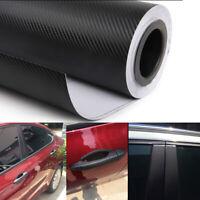 Car Interior Accessories Exterior Panel 3D Black Carbon Fiber Vinyl Wrap Sticker