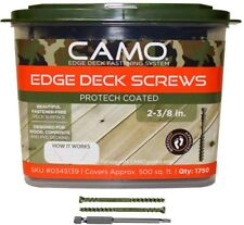 CAMO Trimhead Deck Screws 1750-Count 2-3/8 in. ProTech Coated Lumber Hardwood