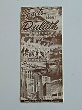 Vintage Facts About Duluth Minnesota Brochure 1949