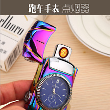 Rechargeable USB Tungsten Wire Electronic Watch Model Car Lighter Gifts Colorful