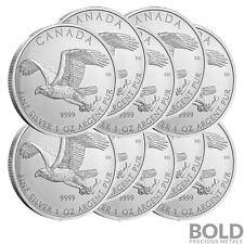 2014 Silver 1 oz Canada Birds of Prey Bald Eagle (10 Coins)