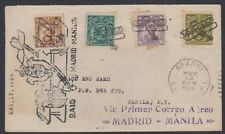1913 Philippines airmail flight cover – Manila-Madria via Primer Correo Aereo