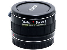 Canon AF moltiplicatore di focale 2x a 7 lenti Vivitar Series 1 innesto EF x EOS