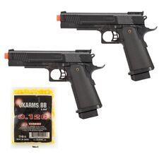 2 PC FULL SIZE AIRSOFT TACTICAL SPRING PISTOL HAND GUN w/ 1000 BBs 6mm BBs BB