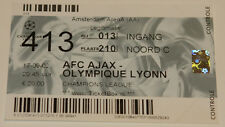 Ticket for collectors CL Ajax Amsterdam Olympique Lyon 2002 Holland France
