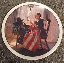 """Norman Rockwell Lmtd Ed. Mothers Day 1980 """"A Mother's Pride"""" Fine China Plate"""