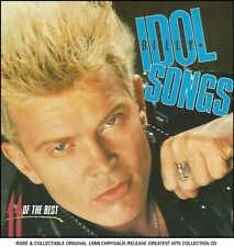 Billy Idol - Very Best Greatest Hits Collection - RARE 80's Rock Pop New Wave CD