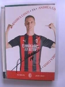 Autogramm Andrea Conti (AC Mailand) Milan 2020/21