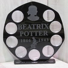 silver 50p 9 coins display Stand royal case Beatrix potter  2017 mirror finish