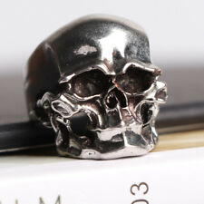 Punk Men Fashion Gifts Ring Ornament Hip hop Silver Skull Jewelry Size 11 Rock