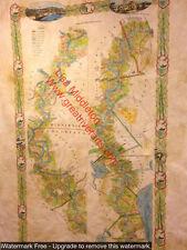 107 1858 Plantation Map vintage historic antique map painting poster print