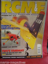 RCM&E SEPTEMBER 2001 CAP 232 REVIEW P40 WARHAWK TWO,S COMPANY PLAN PETER MILLER