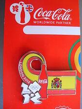 COCA COLA PIN BADGE - LONDON 2012 - COUNTRY FLAG - SPAIN - MOC