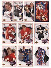 BRETT HULL 1991-92 UPPER DECK HEROES INSERT CARD SET (10) W/ NNO HEADER HOF L@@K