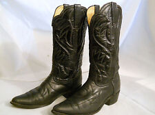 Durango  Boots size  8, Solid  Black, Cowboy, Western, Leather