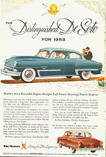 1953 Vintage ad for DeSoto~DeSoto-Plymouth/2 styles Blue  Brownish/Cream Top
