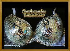 CUSTOM GAGA BURLESQUE SHOWGIRL MIRROR DISCO BALL BRA