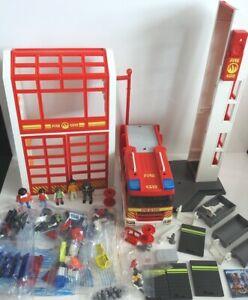 Playmobil Fire Station Bundle Figures Fire Engine Accessories HUGE LOT! VGC