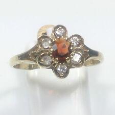 Oval Garnet Cluster Costume Rings