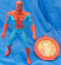 1984 Secret Wars Spider-Man Action Figure Complete With Shield And Insert Mattel