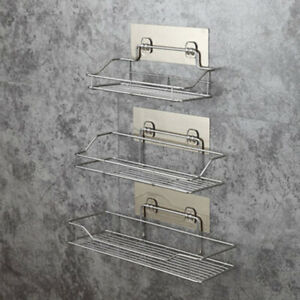 Bathroom Shelf Rack Corner Adhesive Storage Wall Hanging Home Decoration Kitchen