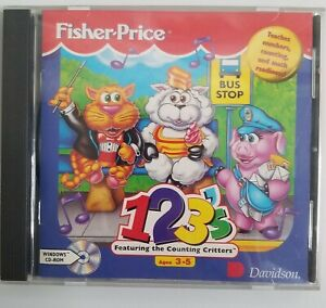 123's: Featuring the Counting Critters CD-ROM Fisher Price 1995  Windows Y