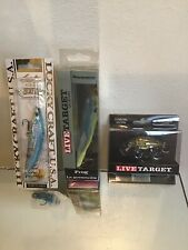 Live Target Frog/yearling/ Lucky Craft Minnow New Lot
