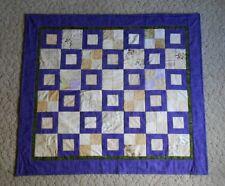 Purple Patchwork Throw Quilt 45 1/2 x 51 1/2 Handmade