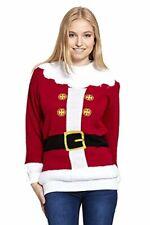 SALE CLEARANCE Ladies Santa's Jacket Christmas Xmas Novelty Jumper UK Size 8-14