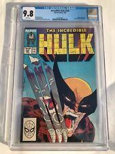 Marvel 1988 The Incredible Hulk #340 CGC 9.8 vs Wolverine Todd McFarlane art