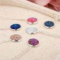 Party Natural Stone Crystal Druzy Necklace Jewelry Quartz