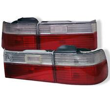 Honda 90-91 Accord 4Dr Sedan Red Clear Euro Style Rear Tail Lights DX LX EX SE