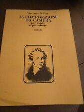 15 Composizioni Da Camera per canto by Vincenzo Bellini Book Ricordi