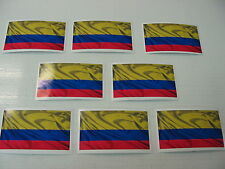 8 COLOMBIAN FLAG Sticker Decal LOT 4 car Window Truck suv Wholesale Colombia