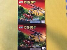 New Lego Instruction Manual ONLY Dino T-Rex Hunter 5886 Both Books