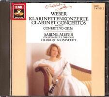 WEBER - Clarinet Concertos 1 & 2 / Concertino - Sabine MEYER / Herbert BLOMSTEDT