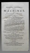 THEÂTRE des MACHINES - PONT-LEVIS, ECLUSES, PONTS-TOURNANTS - VAN DER HORST 1737