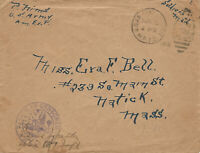 U.S. Army, Soldier's Mail, Nov. 1918, End of World War I, A.E.F. Censored Cover