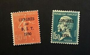 FRANCE 1930 Labour Congress ovptd set MH & gum CV £25