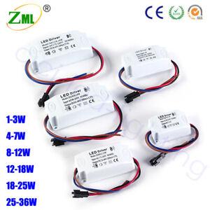 LED Driver 1W 3W 7W 8W 12W 18W 25W 36W Adapter StripTransformer AC 240V 300mA