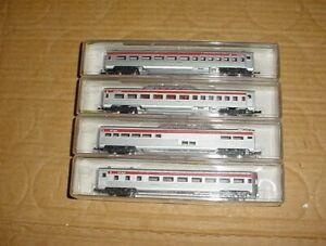 4 MODEL POWER (N) Streamline Passenger Cars in CANADIAN PACIFIC roadname